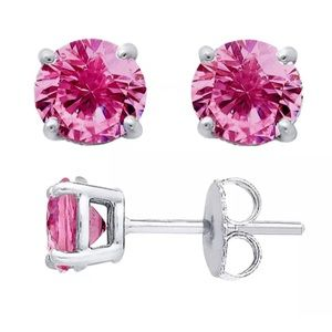 Barbie Princess Pink 925 sterling silver Earrings